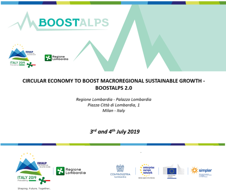 Circular economy to boost macroregional sustainable growth - BOOSTALPS 2.0