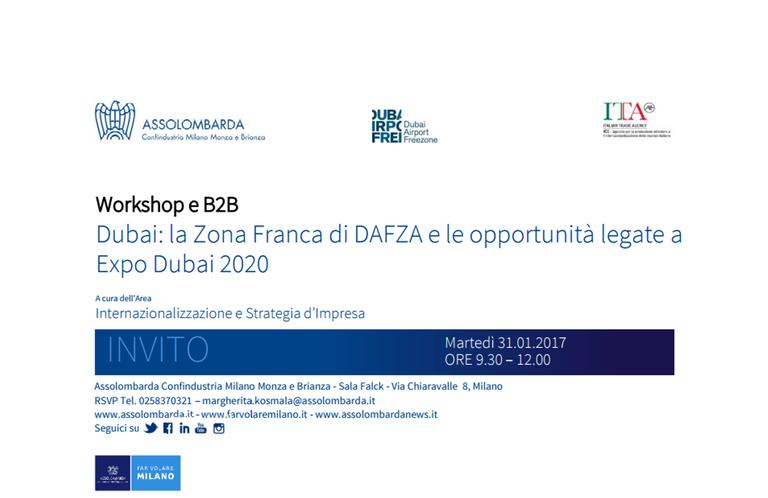 Dubai: La Zona Franca di DAFZA e le opportunità legate a Expo Dubai 2020