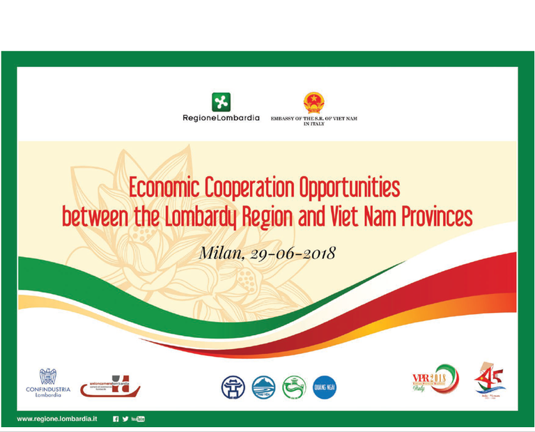 Economic Cooperation Opportunities between the Lombardy Region and Viet Nam Provinces