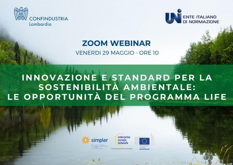 Innovazione e standard per la sostenibilità ambientale: le opportunità del programma LIFE