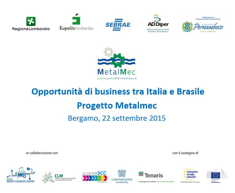 Opportunità di business tra Italia e Brasile: progetto Metalmec