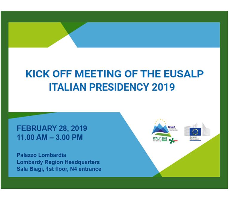 Presidenza italiana EUSALP – kickoff meeting