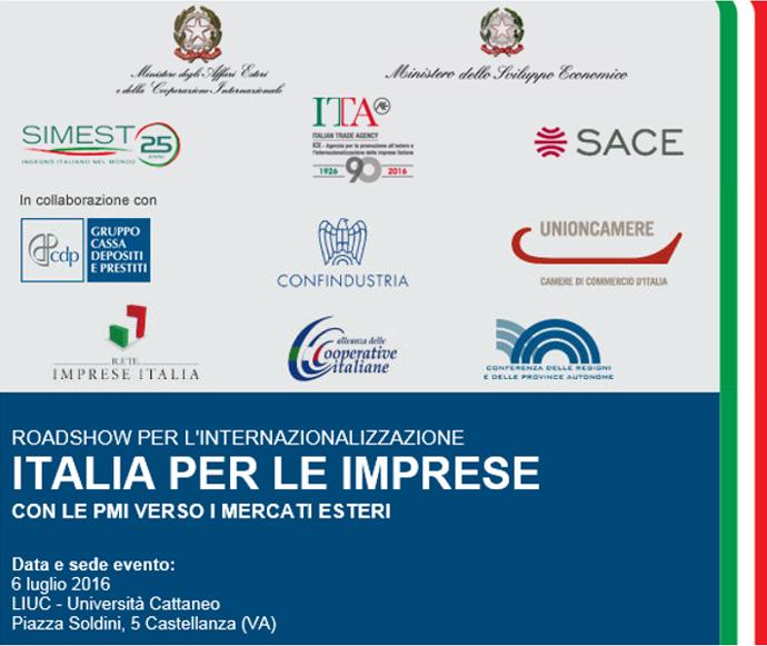 Roadshow per l'internazionalizzazione - Italia per le imprese