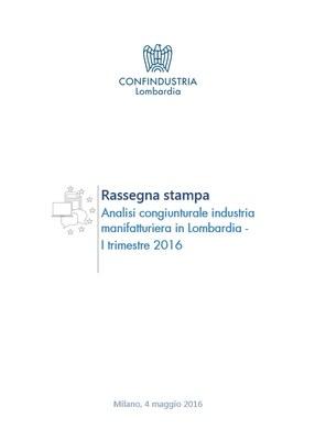 Analisi Congiunturale dell'Industria manifatturiera in Lombardia