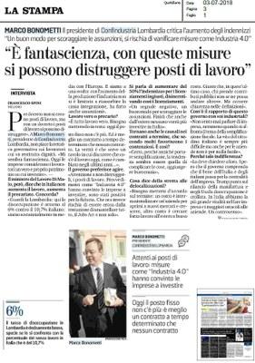 Decreto dignità, intervista a Marco Bonometti