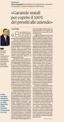 'Garanzie statali al 100% dei prestiti alle imprese'