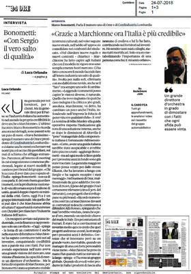 'Grazie a Marchionne l'Italia ora è più credibile: con Sergio il vero salto di qualità'