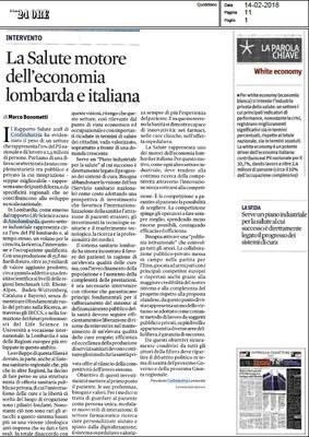 La Salute motore dell'economia lombarda e italiana