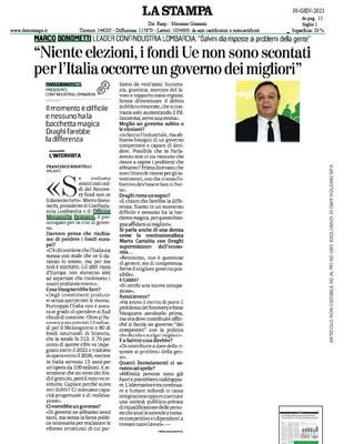 'Per l'Italia occorre un governo dei migliori'