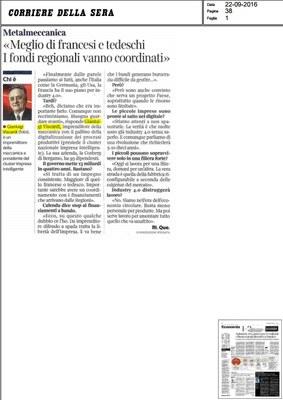 Piano nazionale Industria 4.0, fondi regionali vanno coordinati