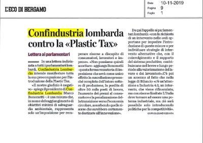 Plastic tax, lettera di Confindustria Lombardia ai parlamentari eletti in regione