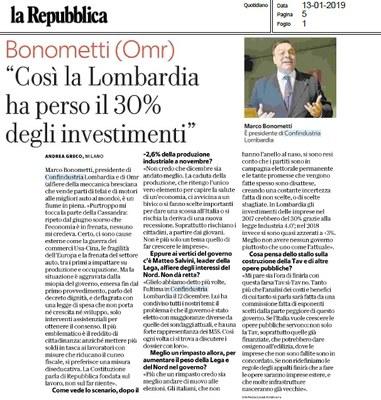 Serve una scossa o l'Italia rischia una nuova recessione