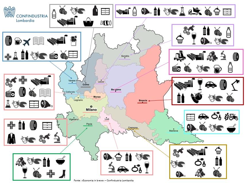 Cartina Economica Lombardia.La Lombardia L Economia In Breve Edizione 2016 Confindustria Lombardia